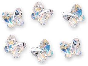 5754 12 Swarovski 8mm Light Rose Crystal Butterfly Beads