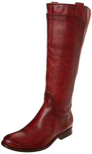 Riding Botas Vintage Leather canvas de Melissa Frye Tall 76932 Red mujer Smooth Burnt tUwxBEH