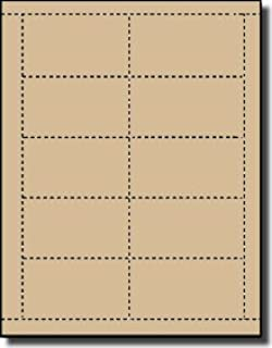 Amazon brown parchment 65lb business cards 25 sheets 250 500 label outfitters 67 tan laser inkjet printable business cards 50 sheets colourmoves