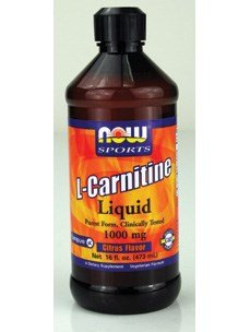 Now Foods L-Carnitine Liquid Citrus Flavor 1000 mg - 16 oz. 12 Pack by NOW
