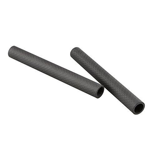 """CAMVATE 15mm Carbon Fiber Rod 5"""" Long for DSLR Camera Rig Cage Shoulder Support(2 pack )"""
