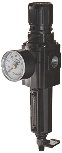 Dixon B72G-2MG-MB Norgren Series Manual Drain Filter/Regulator with Metal Bowl and Sight Glass, 1/4'' Basic, 80 SCFM, 1/4'' Port Size, 5-150 PSI by Dixon Valve & Coupling