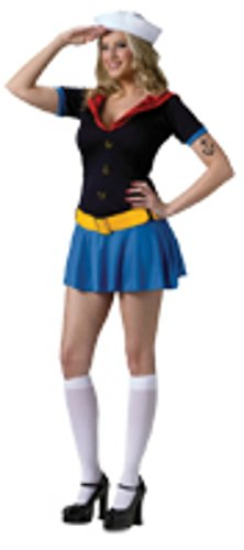 Funworld Womens Sailor Uniform Popeye Sexy Theme Party Fancy Halloween Costume, S/M -