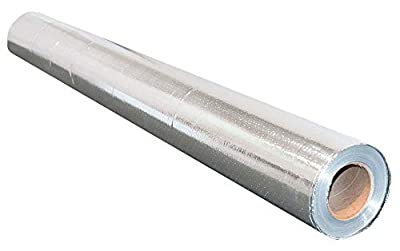NASATECH Residential House Radiant Barrier 48x125 500 square feet roll Reflective Aluminum Breathable Perforated Waterproof Attic Roof Foil Insulation BLOCKs 99% Heat & RF Signals SCIF RFID
