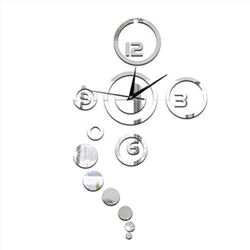14 Pulgadas 3D Estéreo De Gran Reloj De Pared, En Silencio Sin Marco Espejo Pegatinas De Pared Salon Dormitorio Casa...