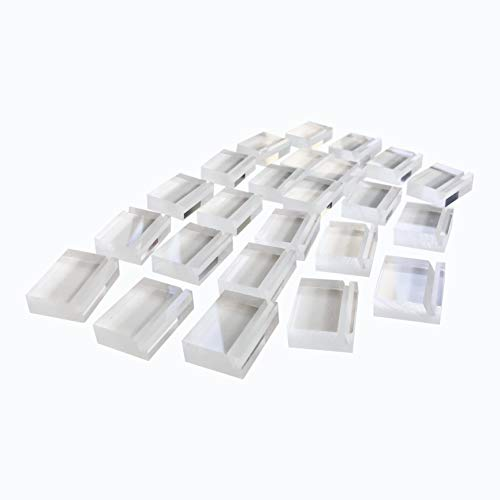 Place Card Holder Set - 24 Pack/Set Includes Adhesive Dots for Stability. Acrylic Placement Holders for Wedding Receptions, Banquet Tables, Buffet Tables, and Table Numbers ()
