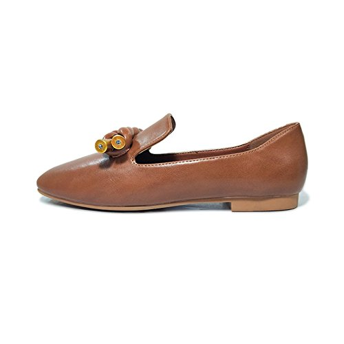 Mocassini Da Donna Comode Mocassini Morbide Da Donna Fashion Slip-on Casual Piatte Singole Scarpe Rosso Intenso