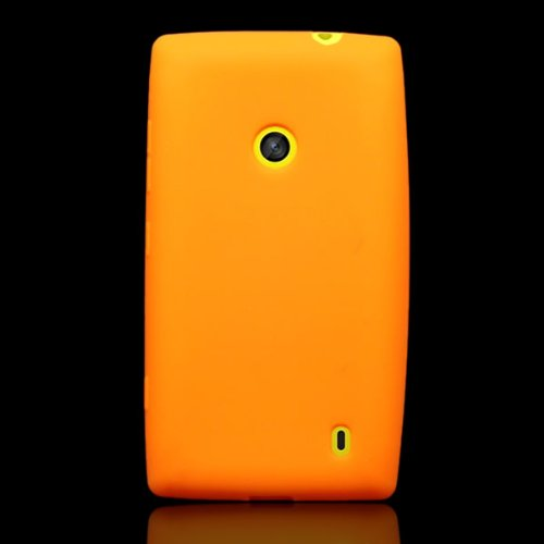 Nokia Lumia 521 Case, CoverON [Silicone Series] Soft Flexible Gel  Protective Phone Cover Case for Nokia Lumia 521 - Orange