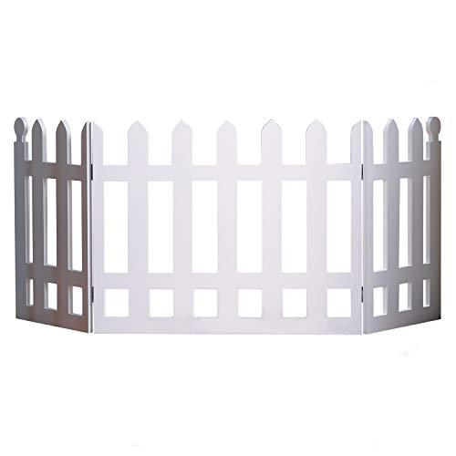 White Picket Fence Folding Pet - Folding Fence