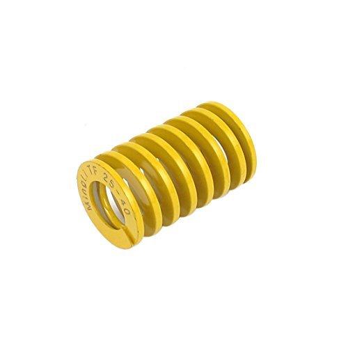 DealMux Lightest Last Spiral Stamping Compression Die Feder 25mmx40mm Gelb DLM-B019002O2W