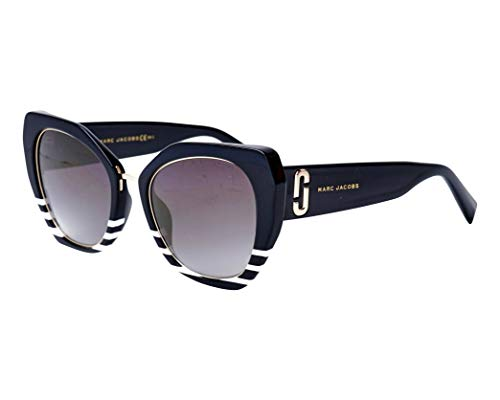 Marc Jacobs White Sunglasses - Marc Jacobs Women's Marc 313/G/S White Stripe/Grey Gradient One Size