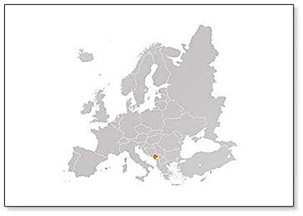 Montenegro On Europe Map.Amazon Com Montenegro On Europe Map Classic Fridge Magnet Kitchen