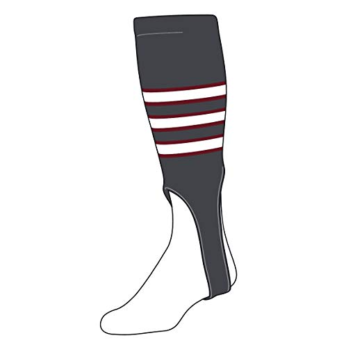 TCK Baseball Stirrups Large (300D, 7in) Graphite, Cardinal, White]()