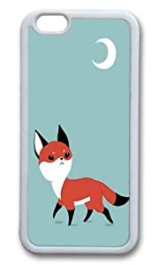 Apple Iphone 6 Case,WENJORS Awesome Moon Fox Soft Case Protective Shell Cell Phone Cover For Apple Iphone 6 (4.7 Inch) - TPU White