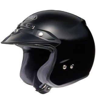 Shoei Unisex Adult RJ Platinum-R Black Open Face Helmet 02-604