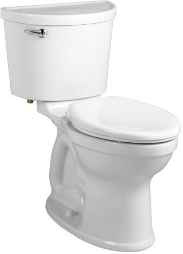 - American Standard 211AA.104.020 Champion PRO Right Height 12-Inch Rough-In Elongated Toilet Combination Less Seat, White