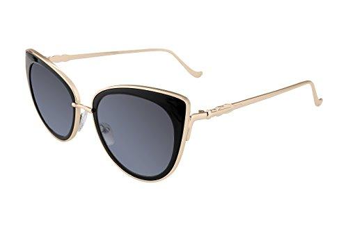 FEISEDY Cat Eye Metal Frame Women Sunglasses UV400 HD Lenses - Sunglasses Cat Eye