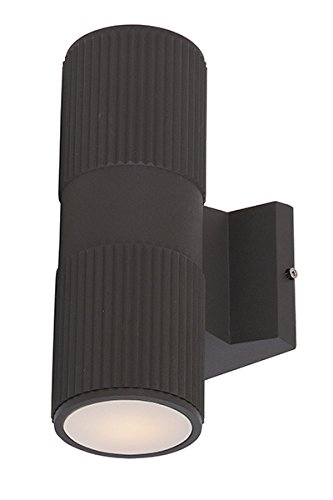 60W Max. Maxim 6123ABZ Lightray 1-Light Wall Sconce R20 MB Incandescent Incandescent Bulb Shade Material Dry Safety Rating Architectural Bronze Finish Rated Lumens Glass