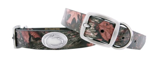 Zep-Pro Camouflage Leather Concho Pet Collar, Penn State Nittany Lions, Large
