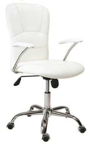 HOGAR24 - Silla de oficina giratoria despacho escritorio estudio con brazos, color blanca