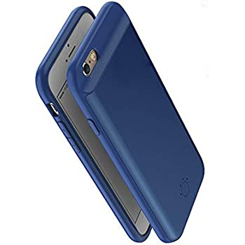 a2fb88d06c6 ... 8p/7p/6p (batería de 3700 mAh, Ajuste Fino, con Puerto Lightning,  batería extendida, batería portátil, Cargador para iPhone 8 Plus 7 Plus 6  Plus), Azul