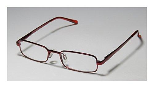 D&A Dollup Unisex/Boys/Girls/Kids Rectangular Full-rim Spring Hinges Eyeglasses/Eyeglass Frame (45-16-125, Burgundy)