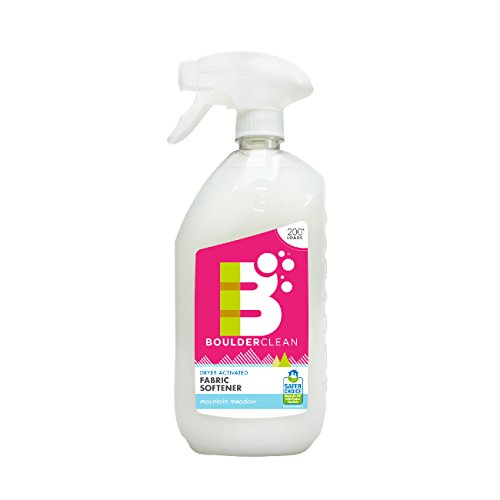 Boulder Clean Fabric Softener Dryer Spray, Mountain Meadow, 28 oz (Pack 4) by Boulder Clean (Image #1)