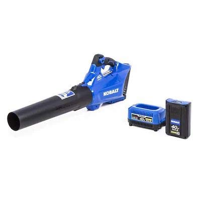 Kobalt 40-Volt Lithium Ion 480-CFM 110-MPH Medium-Duty Cordless Electric Leaf Blower Battery and Charger Included