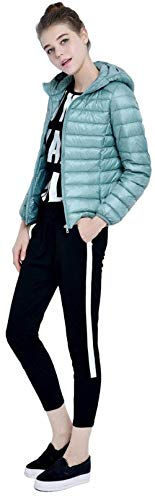 Invernali Blau Leggero Donna Corto Alta Lunga Qualità Coat Con Cappotto Mantello Cerniera Tasche Piumino Cappuccio Monocromo Vintage Laterali Di Manica Caldo Grün ArEE1nx