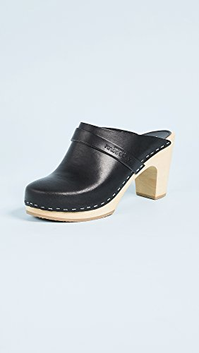 Classic Black On Clogs Slip swedish Women's hasbeens Hxqng8f8