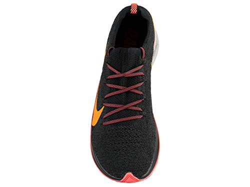 Nike Men's Zoom Fly Flyknit Black/Flash Crimson/Orange Peel Nylon Running Shoes 7 M US by Nike (Image #3)