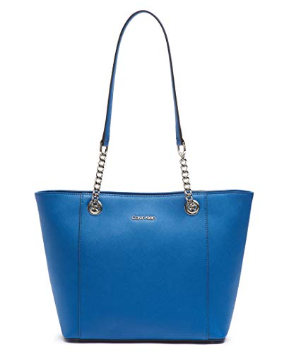 Calvin Klein Hayden Saffiano Leather East/West Top Zip Chain Tote, seaport by Calvin Klein (Image #4)
