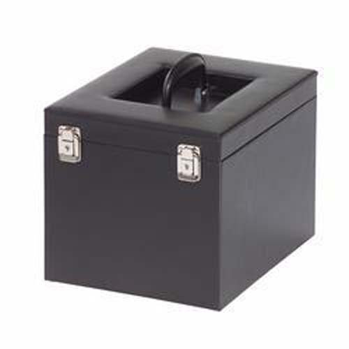 Coin Case black with high-quality imitation leather, for 10 Coin Boxes by Lighthouse
