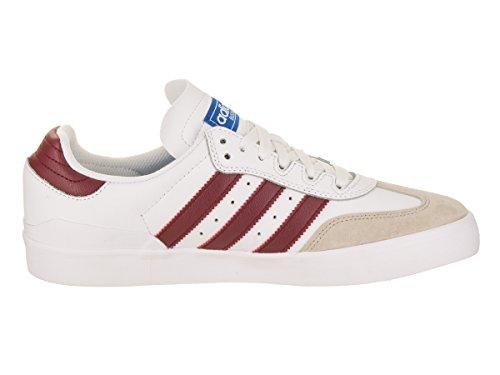 Adidas Menns Busenitz Vulc Rx Skatesko Hvit / Kollegialt Burgunder / Bluebird