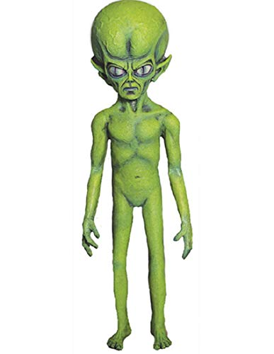 Green Martian Foam Latex Flat Backed Poseable Halloween Decoration Prop Décor -
