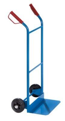 EUROKRAFT Stapel-, Lade- und Sackkarre - Tragfähigkeit 100 kg mit Vollgummireifen - Karre Ladekarre Paketkarre Sackkarre Stapelkarre Transportkarre Universalkarren Rollkarre