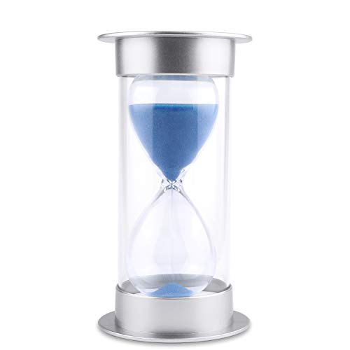Large Sand Timer - Hourglass Sand Timer 5/10/15/30/45/60 minutes Sand glass Timer for Romantic Mantel Office Desk Book Shelf Curio Cabinet Christmas Birthday Gift Kids Games Classroom Kitchen Home Dec (60 min, blue)