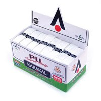 24 Karakal PU Super Grips (White) - Box