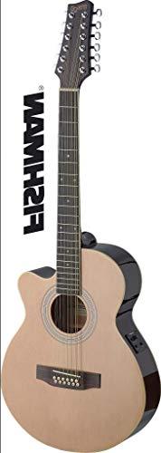 Mini Jumbo Cutaway 12-String Acoustic-Electric Concert Guitar - Natural