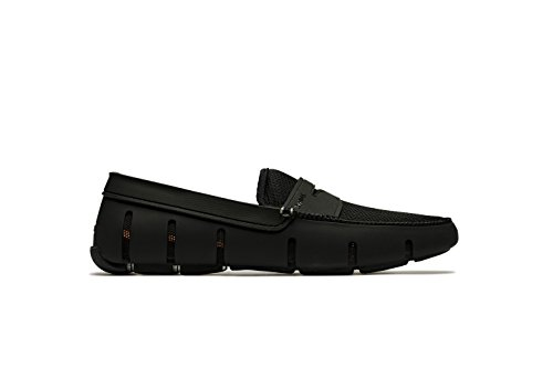 SWIMS Men's Penny Loafer for Pool - Black, 12 by SWIMS