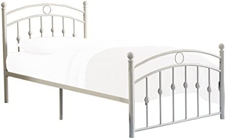 picture of Homelegance Tiana Metal Platform Bed, Twin, White