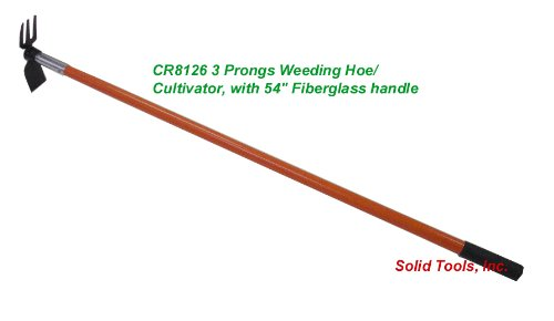 Forgecraft USA Weeding Hoe with 3 Prong Cultivator by Forgecraft USA