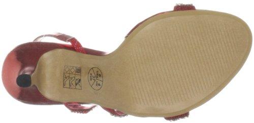 Unze Evening Sandals Femmes Tongs L18176W Rouge