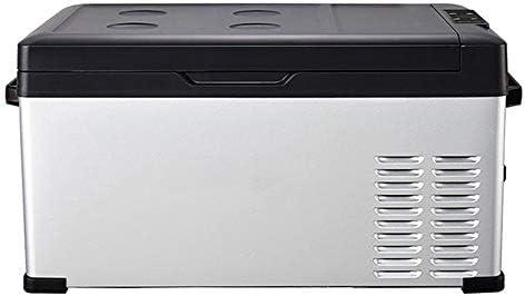 ポータブル冷蔵庫 25リットル家庭用カーデュアルユース冷蔵庫ミニ冷蔵庫、家庭や旅行ポータブルフルーツランチ 車載家庭両用 (色 : グレー, Size : 36.5X65X30CM)