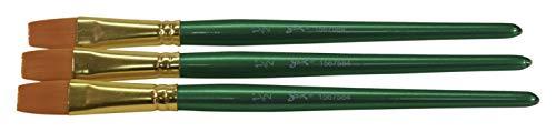 Sax Optimum Golden Synthetic Taklon Paint Brushes, Flat, 1/2 Inch, Pack of 3 1/2 Golden Taklon Brush