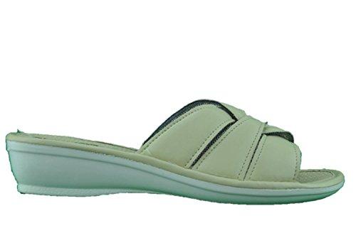 TIGLIO ciabatte pantofole pelle beige benessere comfort