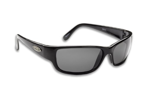 Fisherman Eyewear Pro Current Guideline Sunglass (Shiny Black Frame, Gray - Guidelines Sunglasses