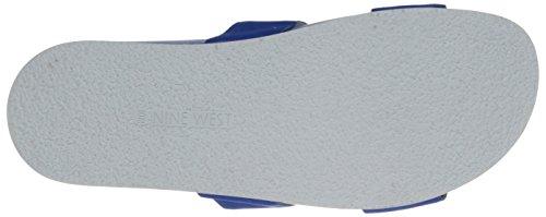 Nine West Women's Zedge Nubuck Sandal Blue EteSUyu