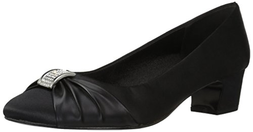 Black Black Satin Eloise Women's Easy Leather Sole Pump Street Dress q7P0TXTw