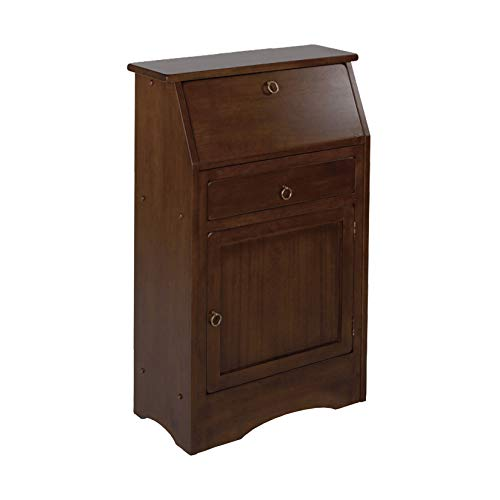 Bookcase Secretary Desk - Winsome Wood 94339 Regalia Home Office, Walnut